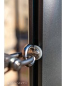 Mât en aluminium hauteur variable pour voiles d'ombrage