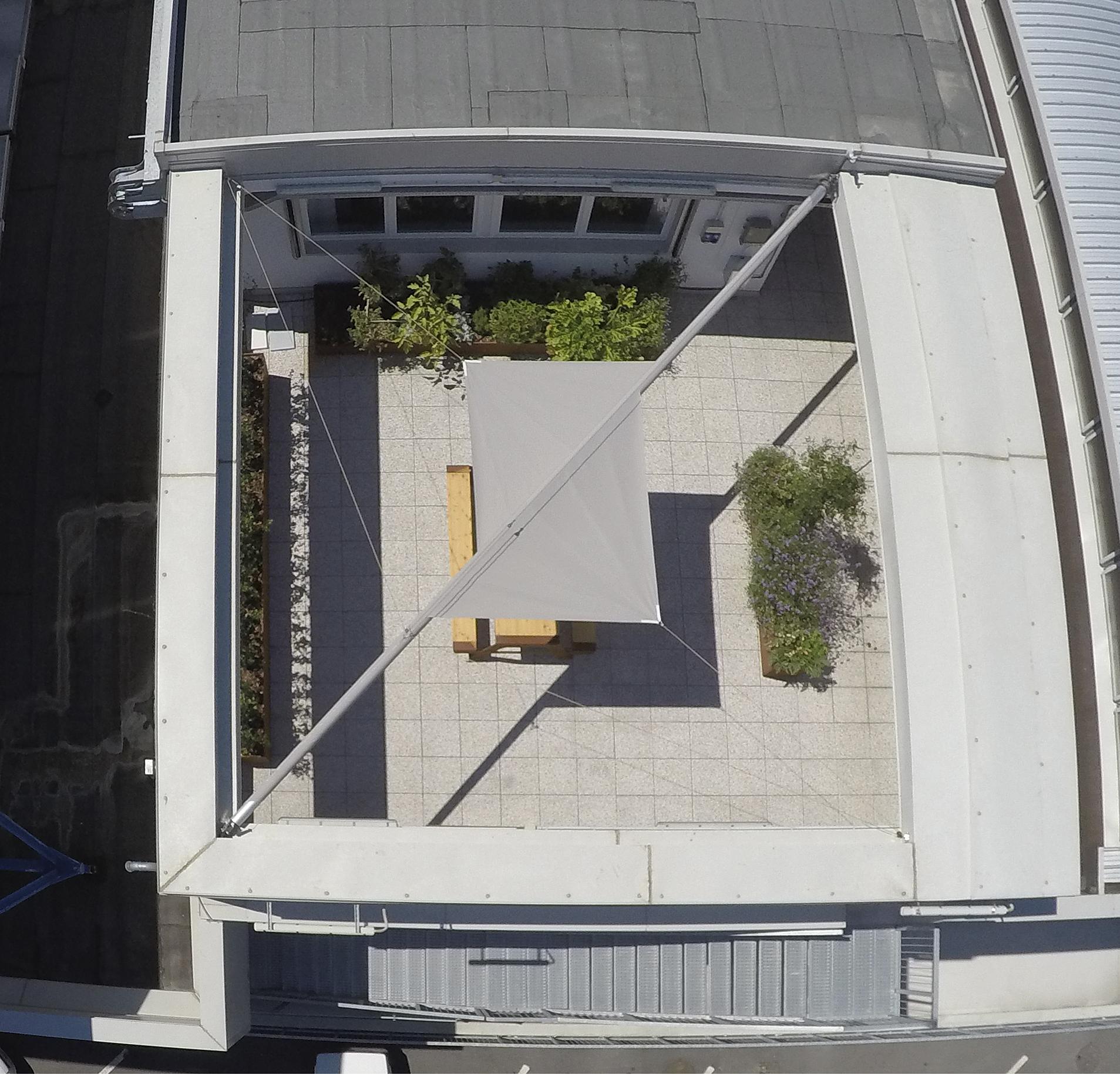 copertura terrazzo con vele
